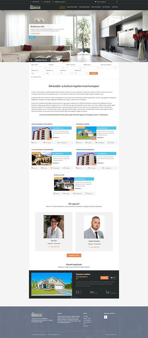 társkereső iroda weboldal tervezése